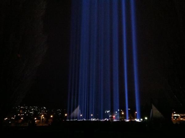 Spectra light installation, part of Dark Mofo, photo by Zara Dawtrey (thanks lovely!)