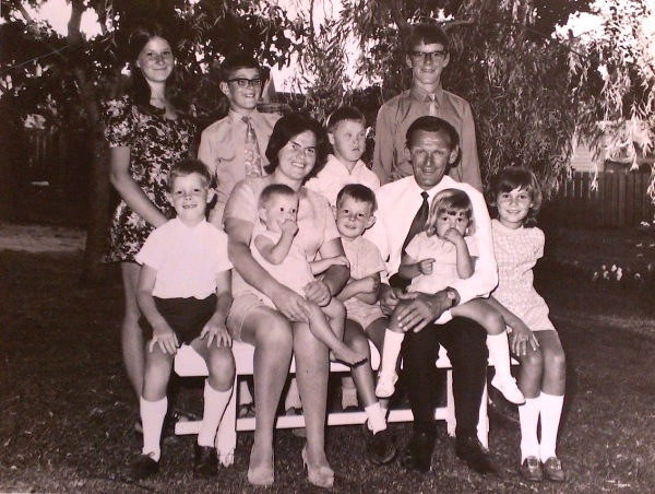 My family in the early '70s - I'm baby number nine!