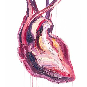 A painting of a human heart by Myuran Sukumaran.