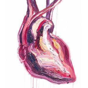 A painting of a human heart by Myuran Sukumaran.